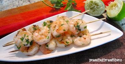 Cilantro Lime Shrimp Kebobs