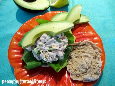 Healthy Tuna Salad on English Muffin