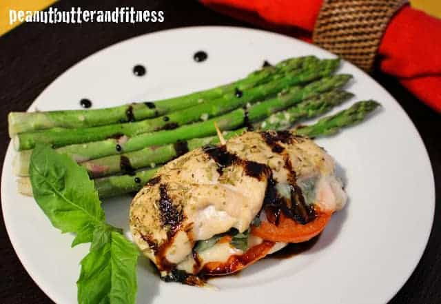 Stuffed Chicken Caprese with Balsamic Reduction