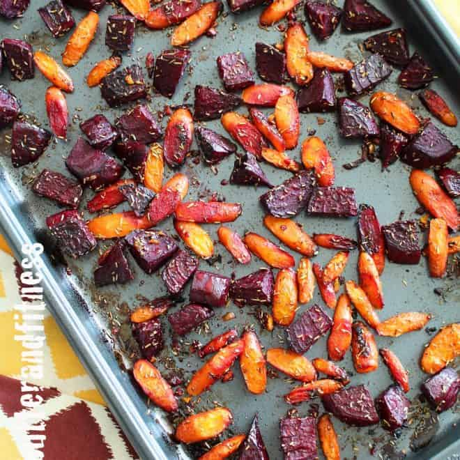 Rosemary Roasted Beets and Carrots