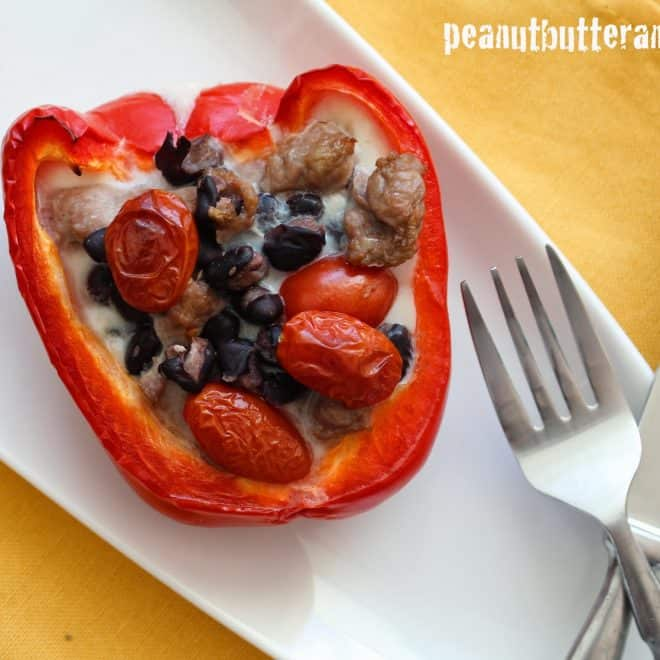 Stuffed Breakfast Pepper (Quitting Cereal – Volume 6)