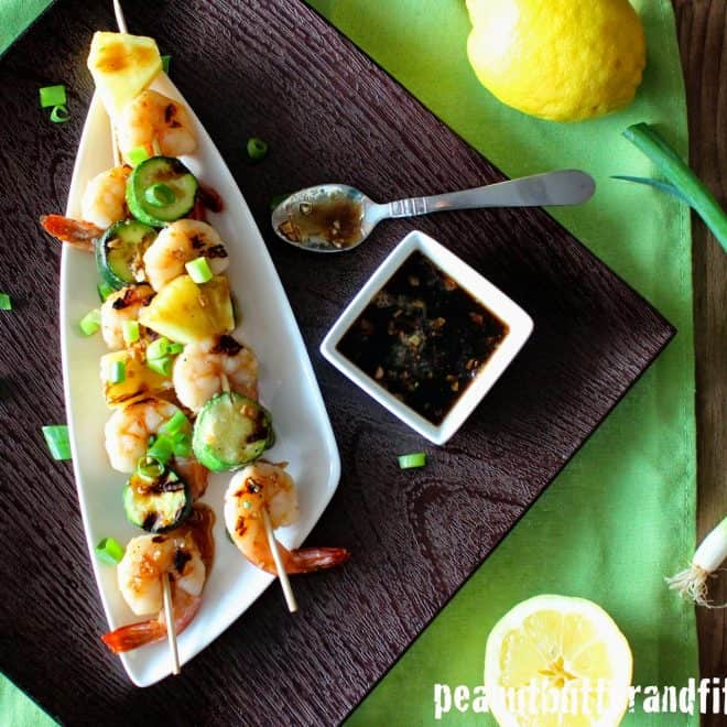 Shrimp Kebobs with Honey Soy Lemon Glaze