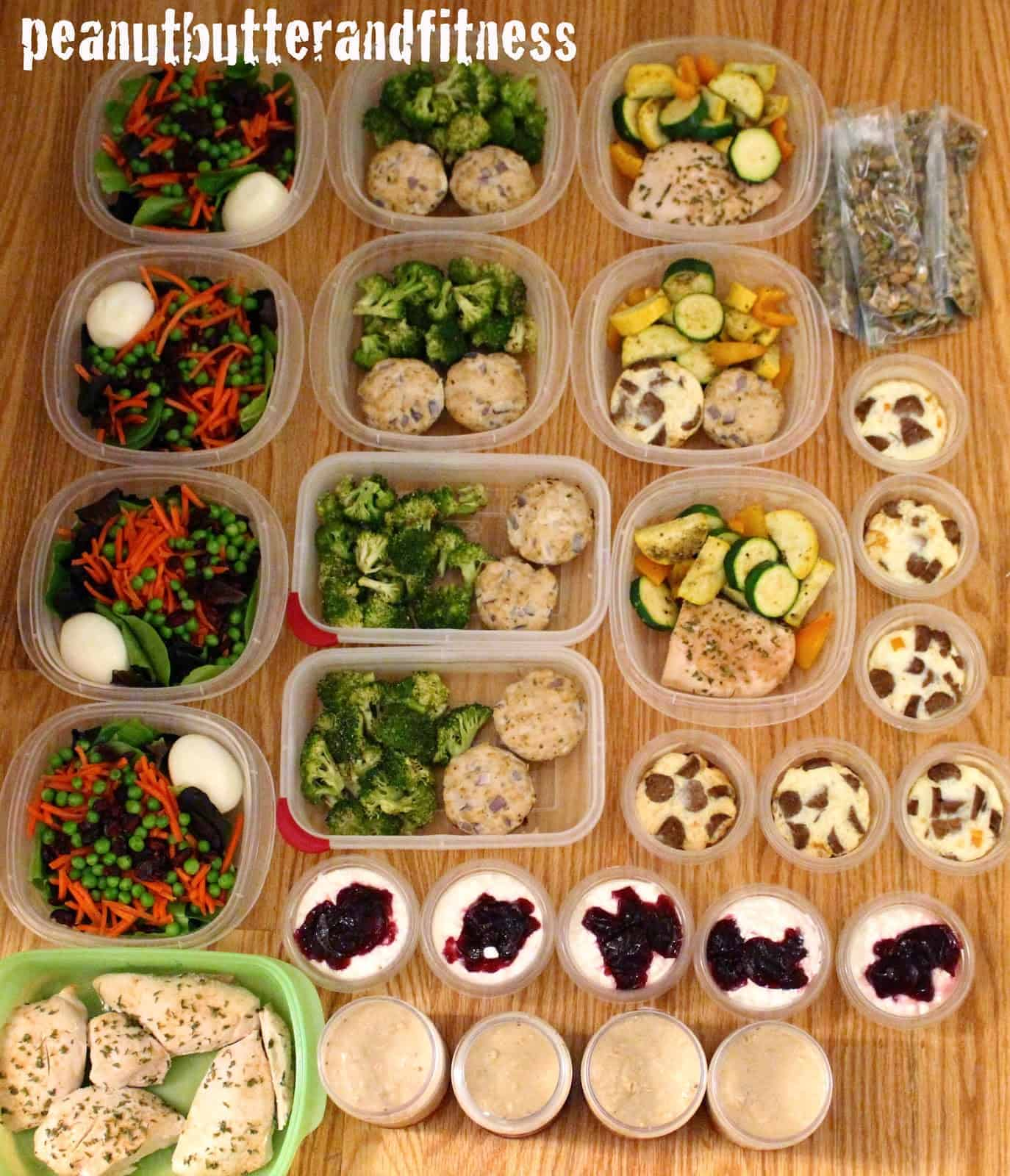 Meal Prep For The Week Peanut Butter And Fitness