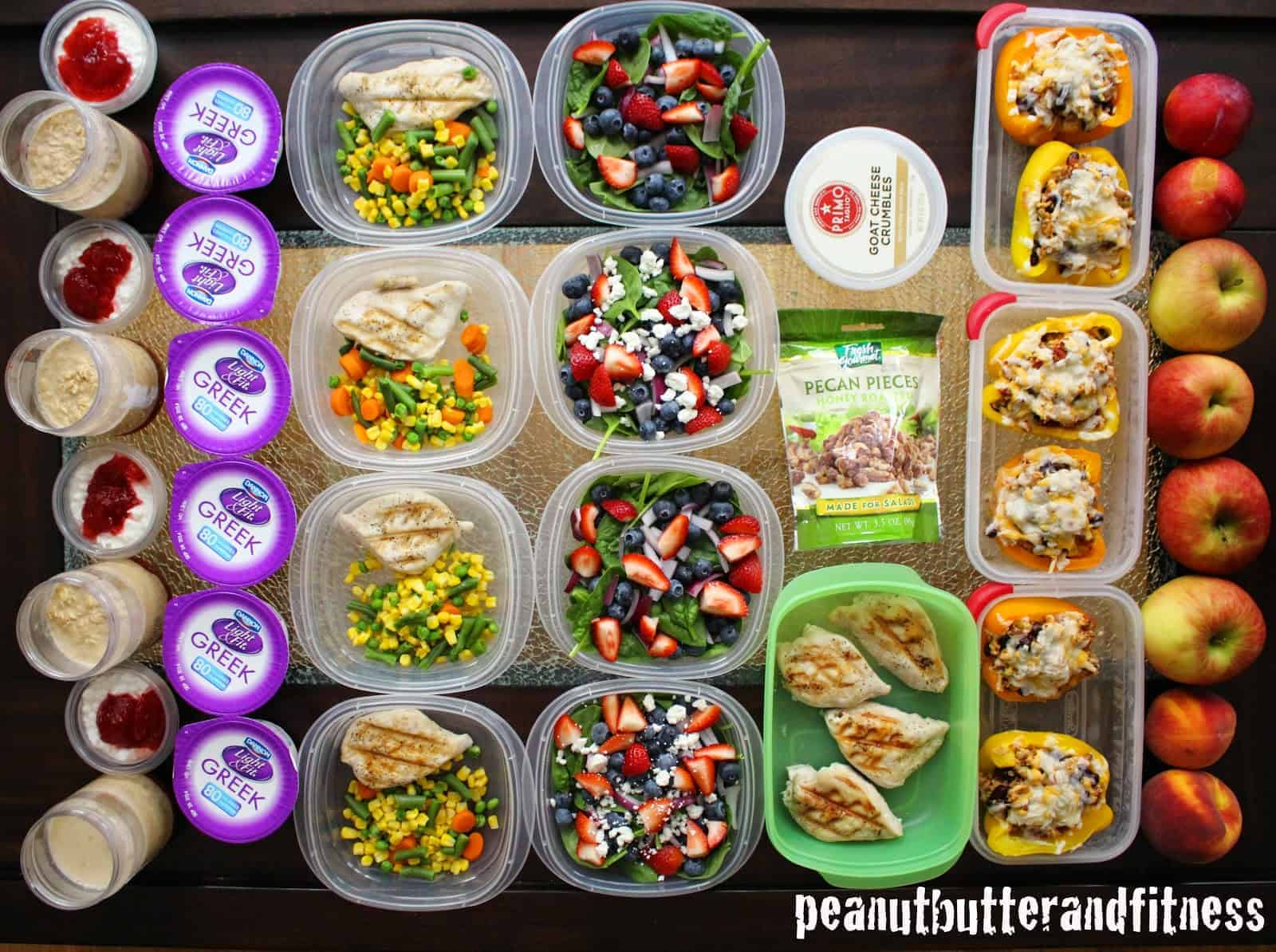 Southwest turkey stuffed peppers and one week meal prep peanut butter and fitness Sw meals