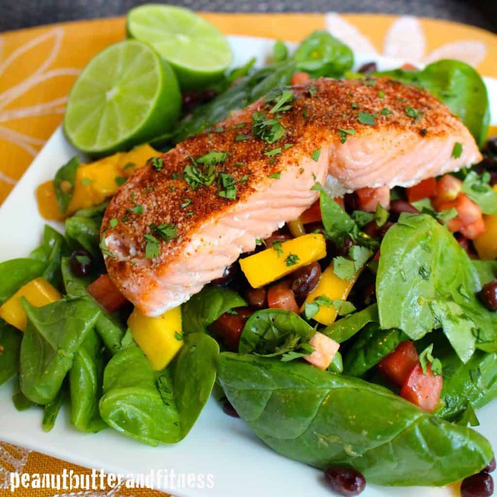 Chili lime salmon salad and meal prep ideas peanut for Salas ideas