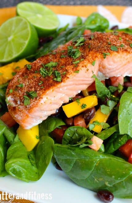 Chili Lime Salmon Salad (and Meal Prep Ideas!)