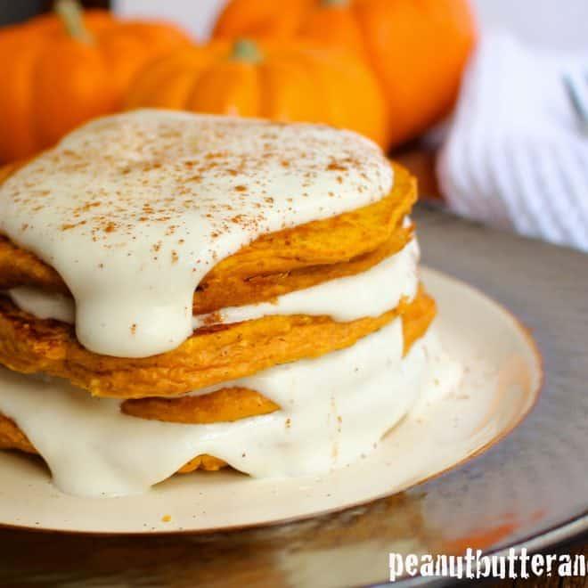 Pumpkin Cheesecake Protein Pancakes