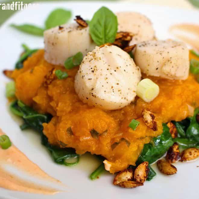 Scallops with Thai Butternut Squash Mash