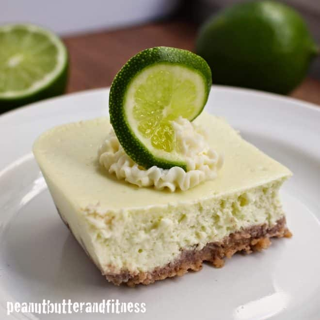 Key Lime Protein Cheesecake Bars