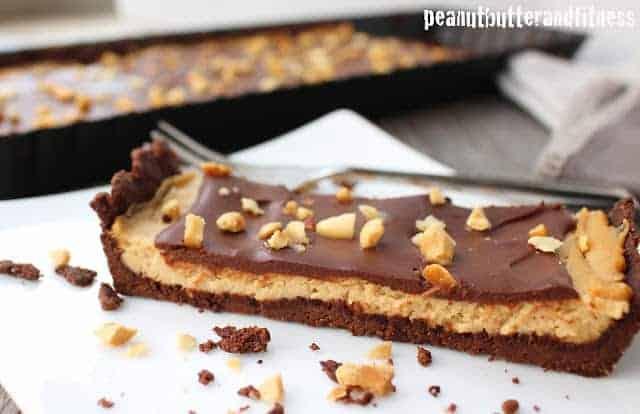No-Bake Peanut Butter Protein Tart