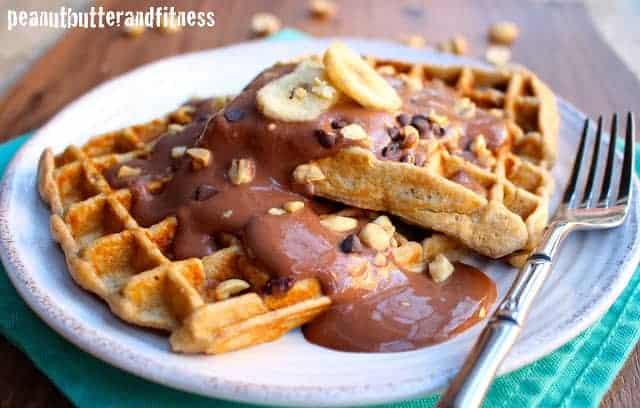Not So Chunky Monkey Protein Waffles
