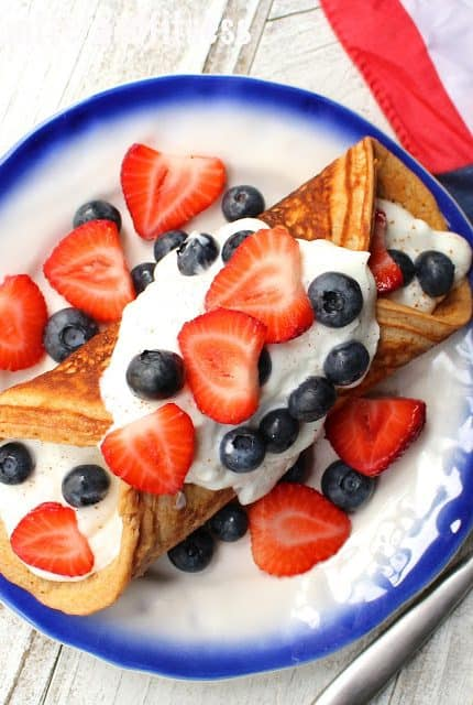 'Merica Protein Pancake Roll-Up