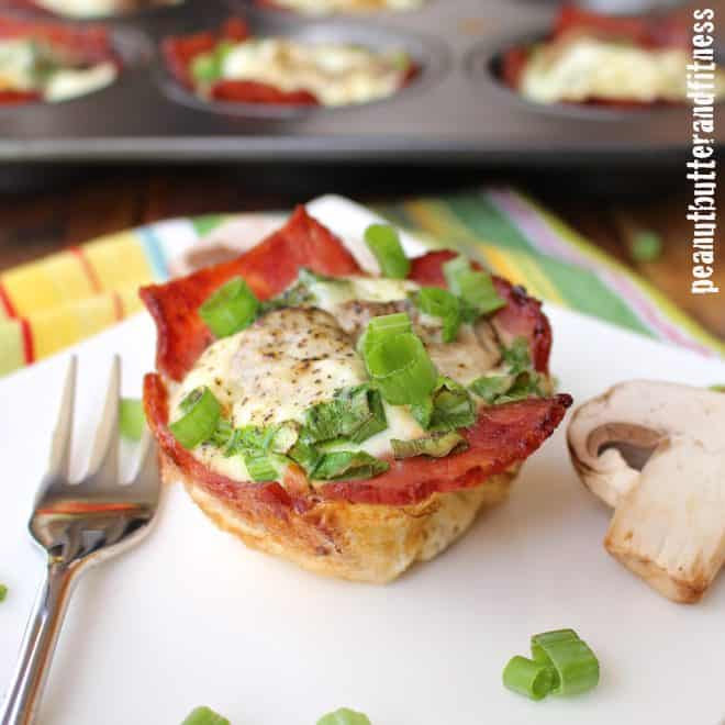 Turkey Bacon and Egg White Muffins