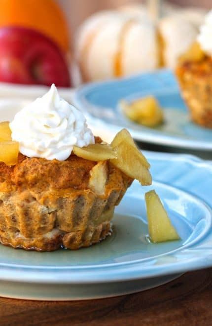 Pumpkin Apple Protein French Toast Cups