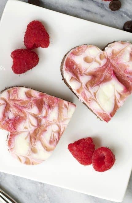 Raspberry Swirl Protein Cheesecake Brownies