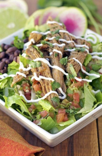 Instant Pot Chipotle Pork Salad Bowl