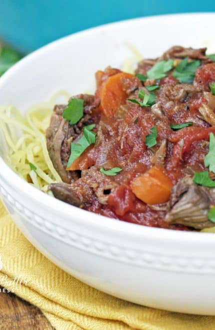 Short Rib Ragu with Spaghetti Squash