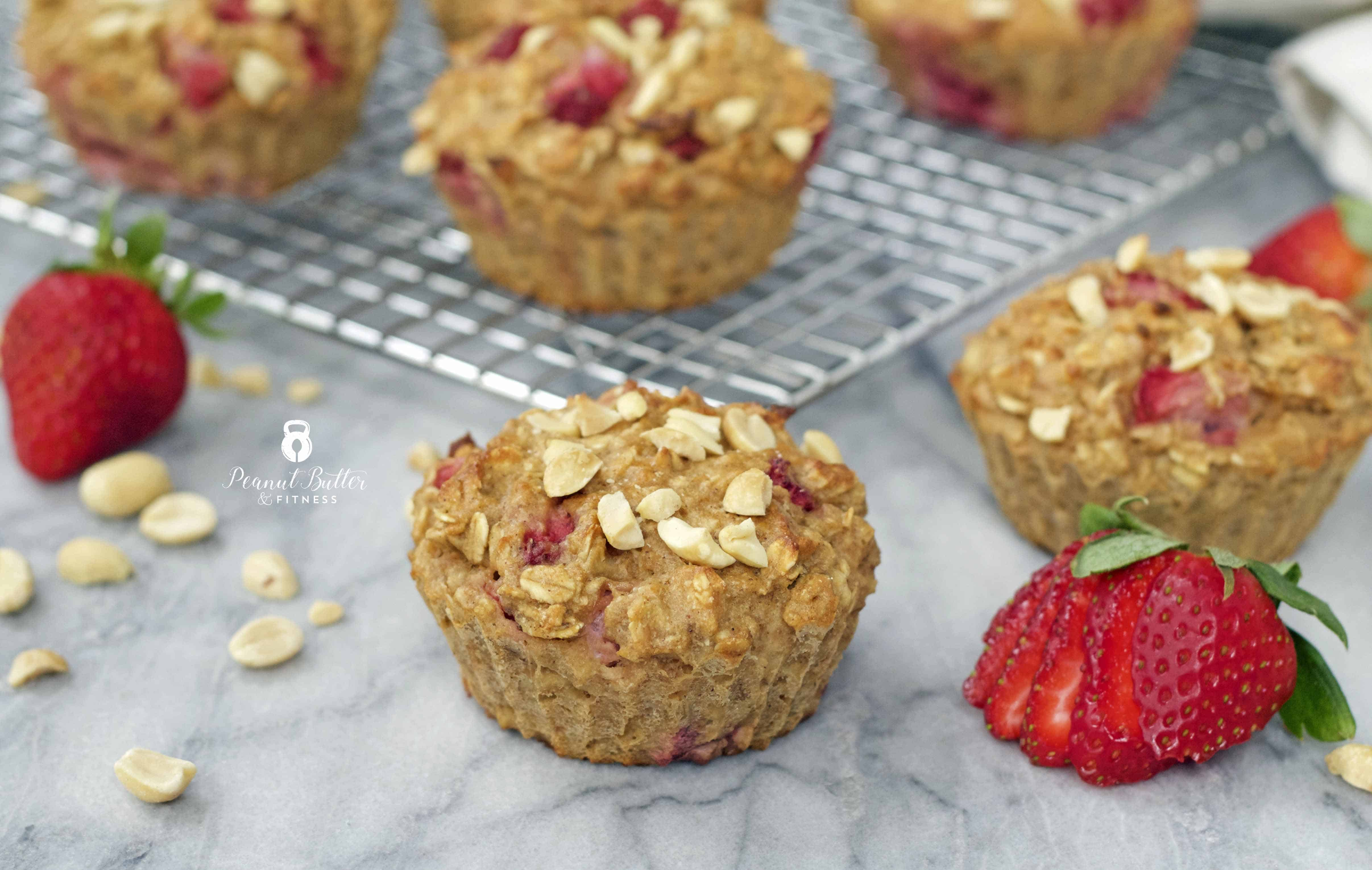Strawberry Peanut Butter Oatmeal Muffins - Peanut Butter ...