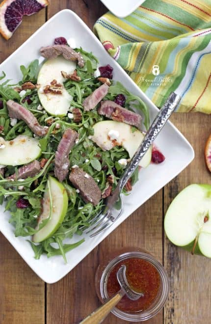 Arugula Steak Salad with Citrus Vinaigrette