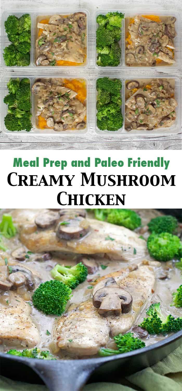 creamy mushroom chix pinterest
