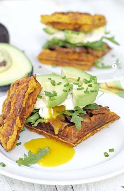 Paleo Sweet Potato Waffle Sandwiches