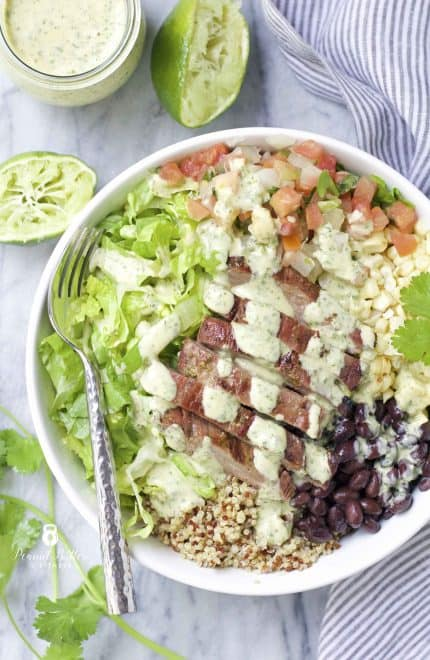 Steak and Quinoa Burrito Bowl