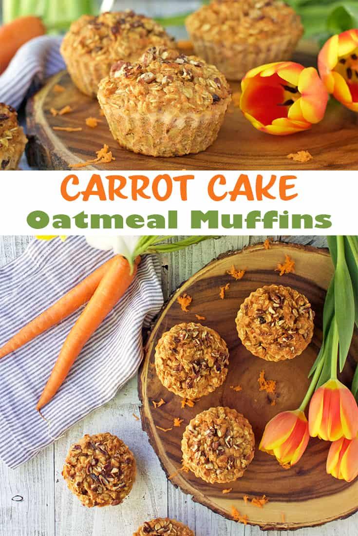 carrot cake oatmeal muffins