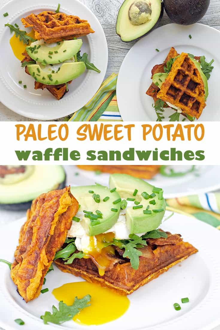 sweet potato waffle sandwiches