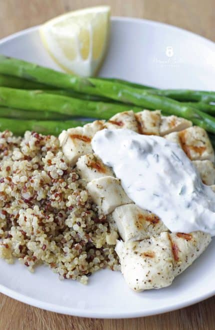 Lemon Dill Chicken with Asparagus and Quinoa