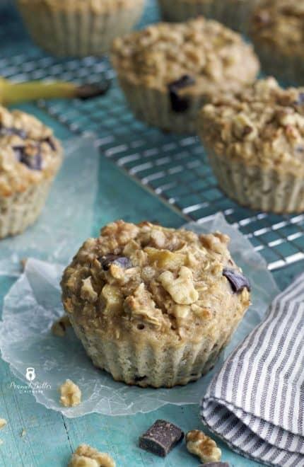Skinny Monkey Oatmeal Muffins