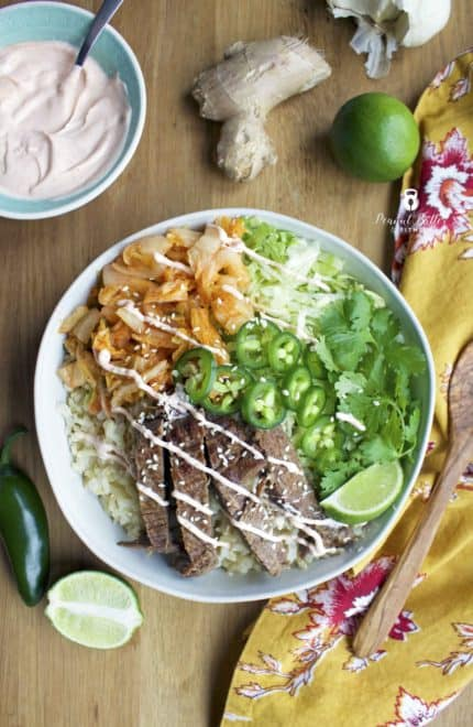 Instant Pot Korean Burrito Bowls
