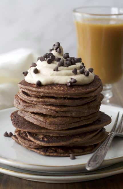 Kahlua Peanut Butter Protein Pancakes