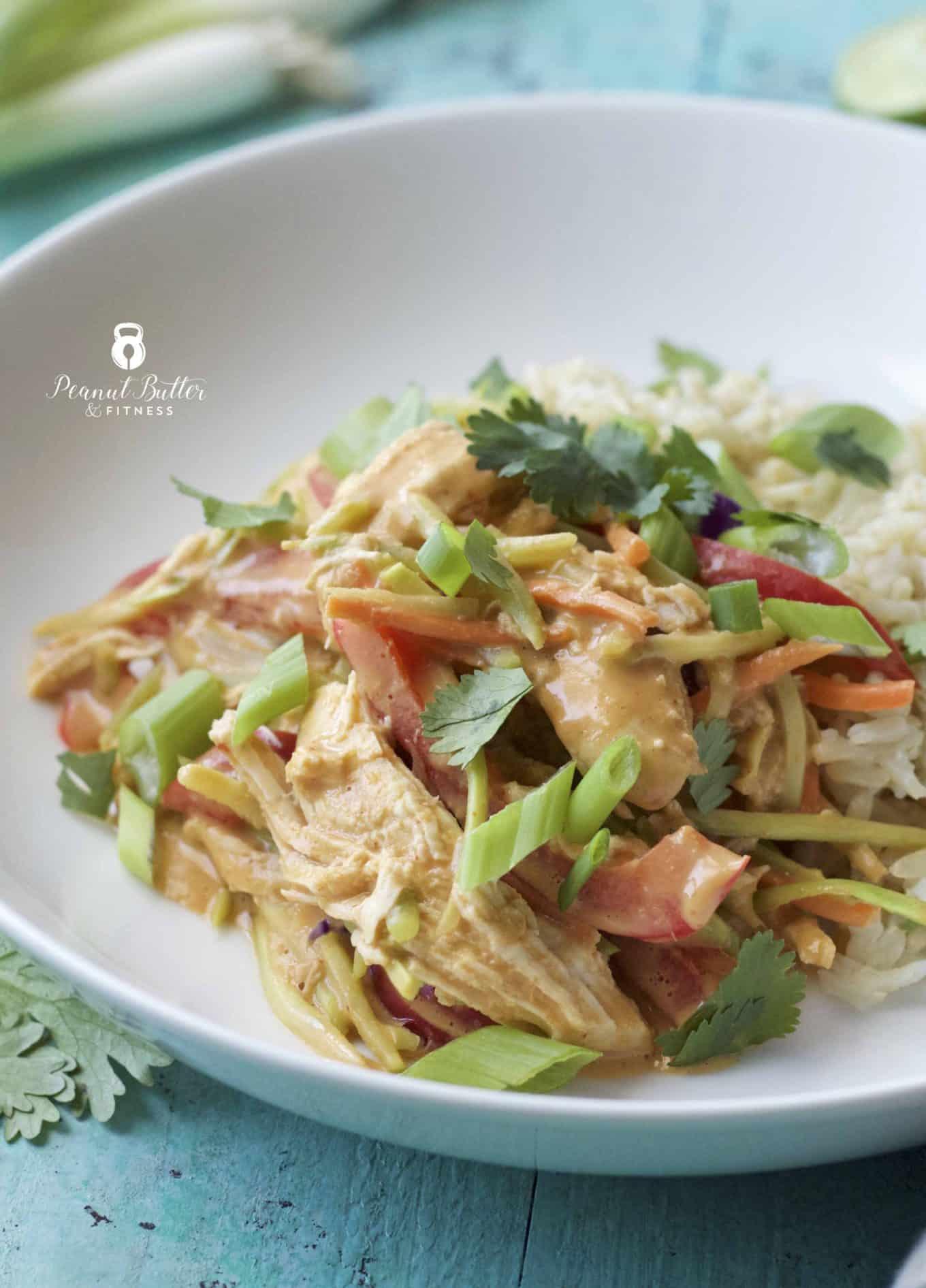 Instant Pot Thai Peanut Chicken