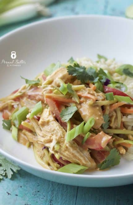 Instant Pot Thai Peanut Chicken