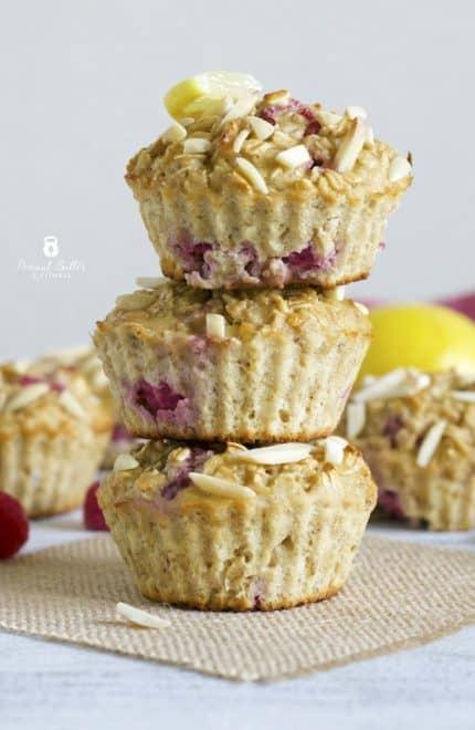 Lemon Raspberry Oatmeal Muffins