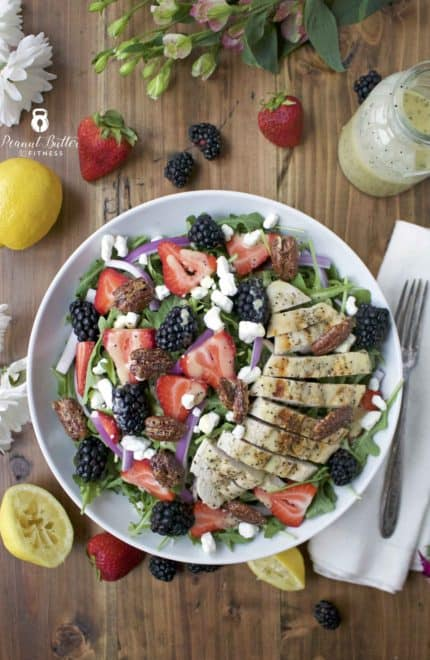 Summer Chicken Salad with Lemon Poppyseed Dressing