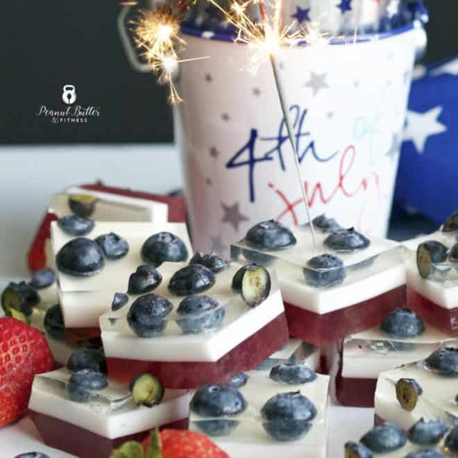 Red, White, and Blueberry Jello Shots