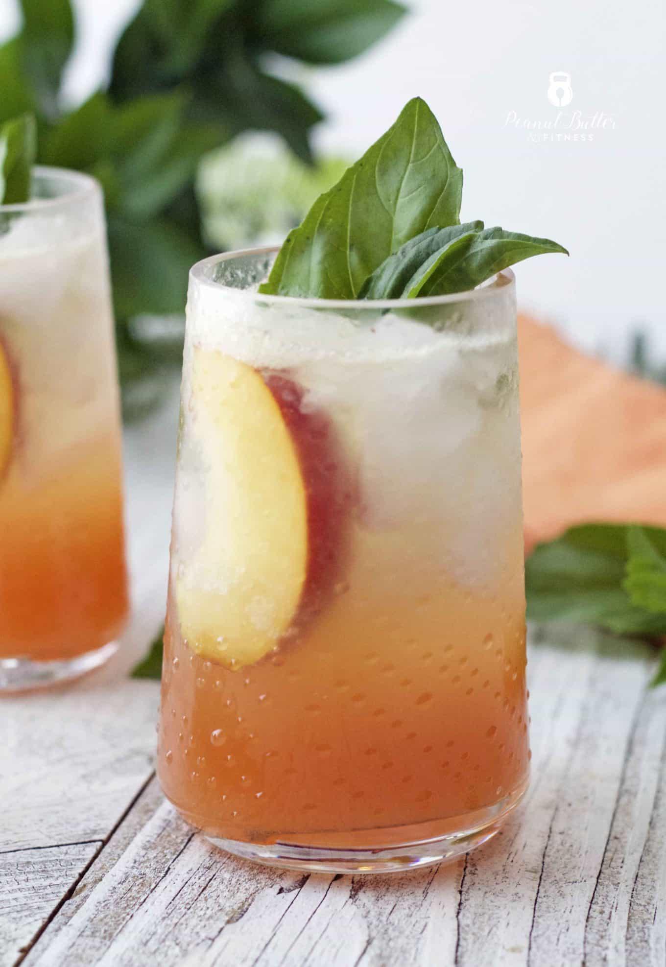 Peach Basil Spritzer
