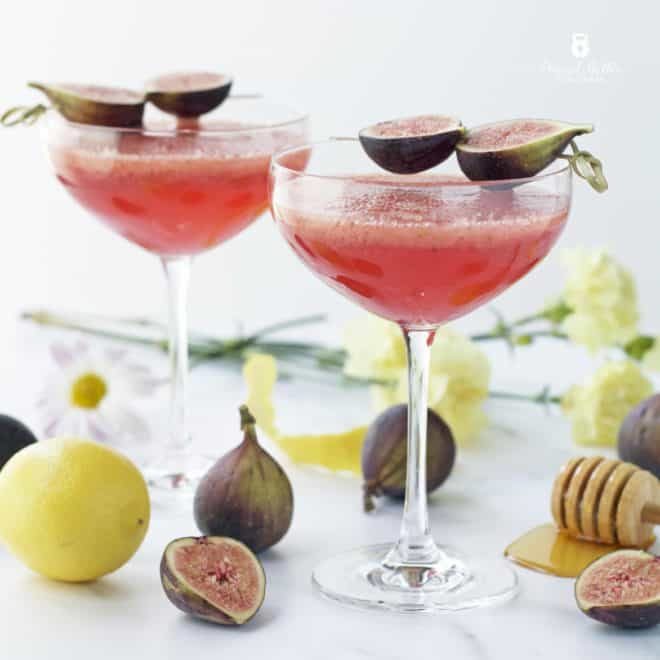 Honey Roasted Fig and Elderflower Fizz