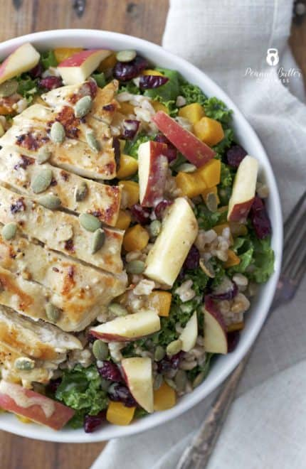 Fall Harvest Farro Salad with Apple Cider Dressing