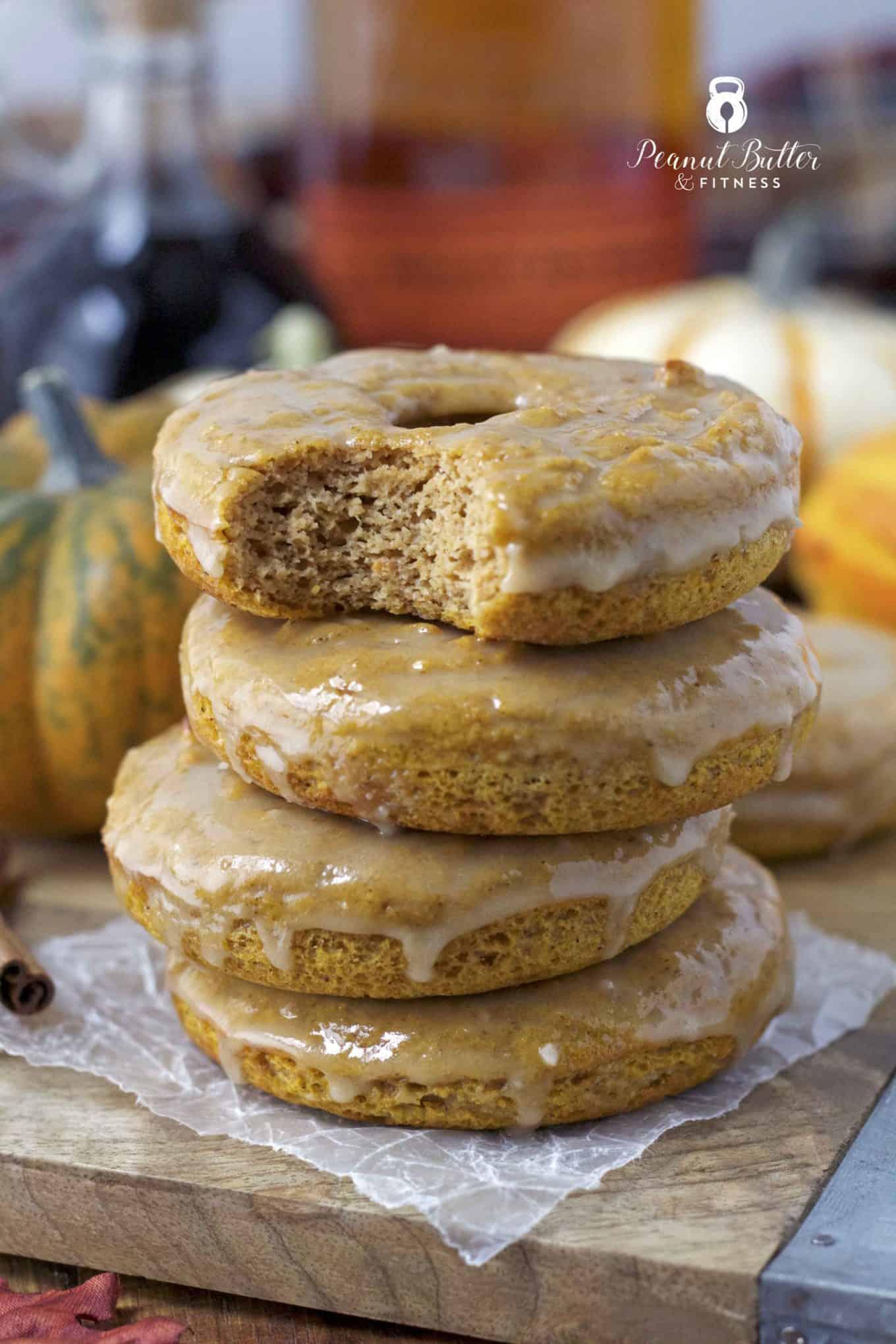 Pumpkin Protein Donuts with Maple Bourbon Glaze